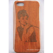 Slick Made Wood Phone Case for iPhone Original Laser Engraved Bamboo Wood Cover